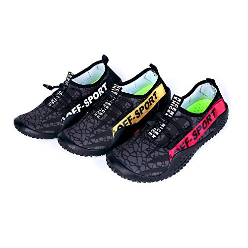 AIRIKE Mens Water Shoes Beach Closed Toe Sandals Non-Slip Quick Dry Athletic