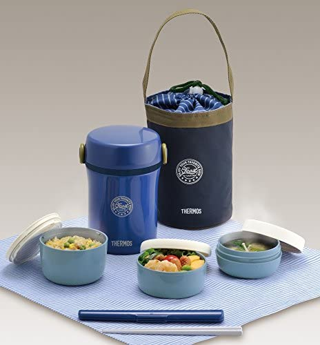 THERMOS Heat Insulated Bento Lunch box Navy JBC-801 NVY New Japan