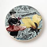 Enesco Holy Crap Coaster Set by Erin Smith, Don't Pretend, 0.25-Inch by Enesco