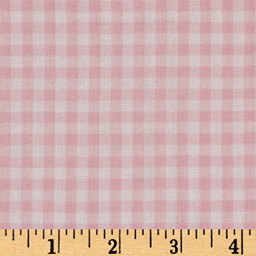 Robert Kaufman 0516261 Kaufman Baby Basics Double Gauze Check Pink Fabric by The Yard