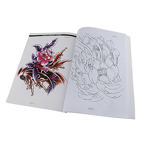 New Fashion Women Lady Body Art Tattoo Sketch Reference Book Flowers Style