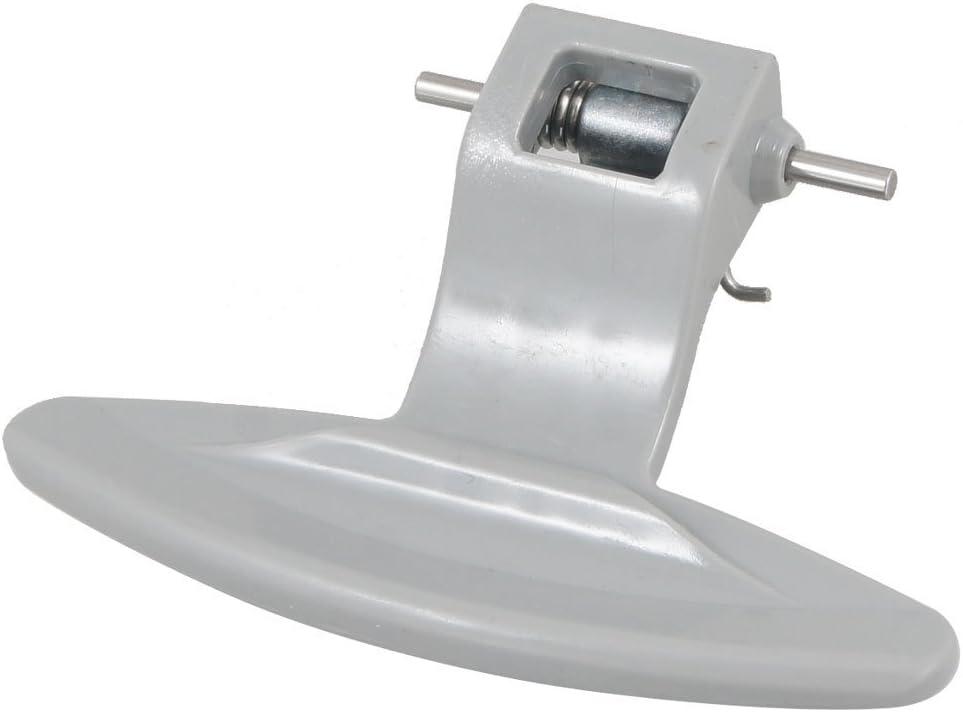 DealMux Pestillo de la manija de la Puerta de plástico Lavadora LG de Carga Frontal Gris