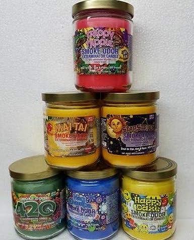 13 oz Smoke Odor Exterminator 13oz Jar Candle Trippy Hippie