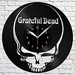 Grateful Dead art Vinyl Record Wall Clock Decor Home Original Gift Unique Design Handmade