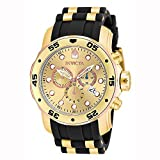 Invicta Men's 17884 Pro Diver 18k Gold Ion Plated Stainless Steel
