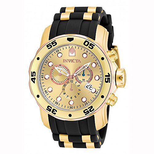 Invicta Men's 17884 Pro Diver 18k Gold Ion Plated Stainless Steel (Large Image)