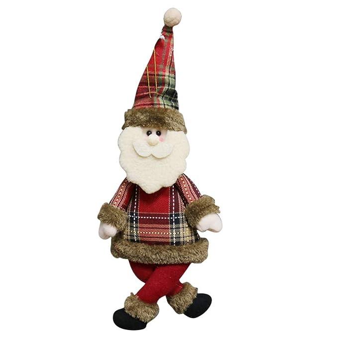 Amazon.com: Nstcher - Muñeca de Papá Noel, muñeco de nieve ...