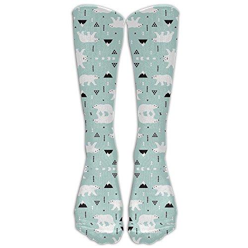 Polar Bear Mint (Cute Polar Bear Mint Blue Winter MountainWanderlust Air Travel Compression Socks For Men & Women. Guaranteed To Prevent Swelling, Pain, Edema.)
