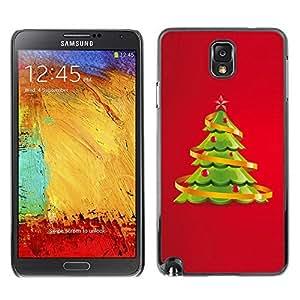 YOYO Slim PC / Aluminium Case Cover Armor Shell Portection //Christmas Holiday Decorated Tree 1061 //Samsung Note 3
