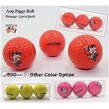 A99 Golf Piggy Tournament Ball 9pcs/3Packs (Orange, Yellow and Pink)