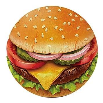 Hamburguesa con queso hamburguesa Ronda toalla de playa gasa Roundie círculo playa manta gigante de gasa toalla de hamburguesa: Amazon.es: Hogar