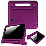 Fintie Samsung Galaxy Tab E 9.6 Kiddie Case - Light Weight Shock Proof Convertible Handle Stand Kids Friendly for Samsung Galaxy Tab E Wi-Fi / Tab E Nook / Tab E Verizon 9.6-Inch Tablet, Purple
