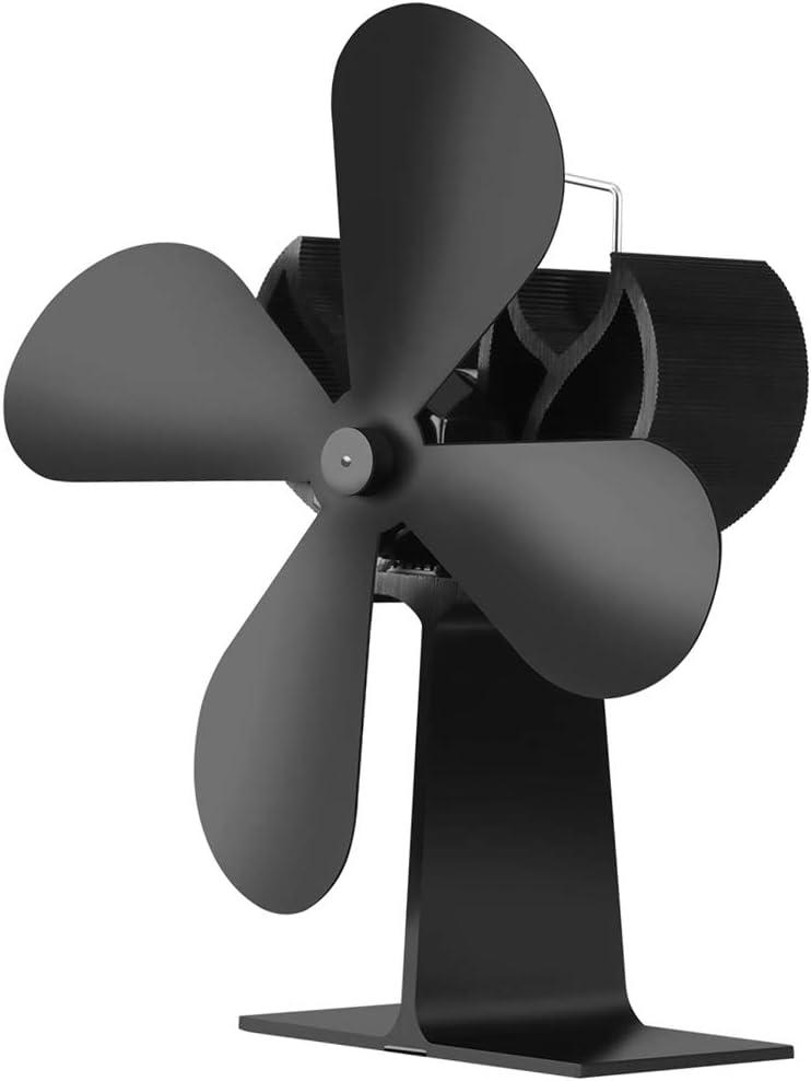 non-brand Sharplace Ventilador de Chimenea para Estufa de Leña, Resistente al Alta Temperatura, Buena Eficiencia Energética