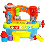 FMT Little Engineer Multifunctional Musical Learning Tool Workshop for Kids Tools, Shapes, Numbers, Lights & Sounds