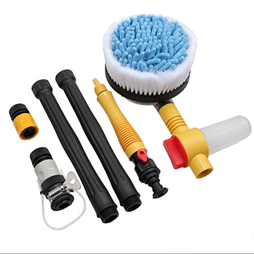 CAMWAY Car Rotating Pole Vehicle Washing Brush Sponge Cleaner Hose for Car Safe Window Cleaner Home Cleaning Kit Garden Sprinkler from CAMWAY
