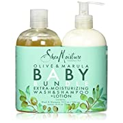 Shea Moisture Olive & Marula Baby Bundle Extra Moisturizing Wash And Shampoo Plus Lotion