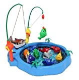 "12"" Catch The Shark Fishing Game for Kids with Fish, Pole and Rod"