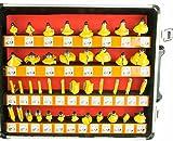 """Erie Tools 100 Piece 1/4"""" Shank Router Bit Set"""