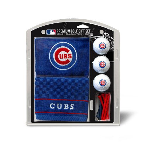 Chicago Cubs Mens Pattern - Team Golf MLB Chicago CubsEmbroidered Towel Gift Set
