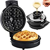 Andrew James Volcano Waffle Maker for Deep Belgian Waffles | Includes Recipes | Easy to Use Electric Machine with Non-Stick Plates & No Mess Funnel | Exclusive Award Winning Design