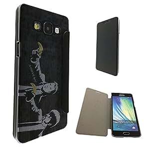 547 - Banksy Grafitti Art pulp fiction Design Samsung Galaxy A3 Fashion Trend Funky Smart Clear Plastic & TPU Flip Case Full Cover Purse Pouch Defender Book Case