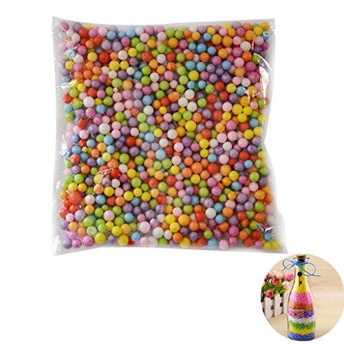 14000X Namgiy Balles en mousse polystyrène Craft Slime particules de mousse de polystyrène pour arts Crafts Fournitures DIY Décoration de fête de mariage 2,5–3,5mm Multicolore