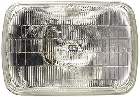 SYLVANIA H6054 Basic Halogen Sealed Beam Headlight 142x200, (Contains 1 Bulb) - 1981 Dodge Omni