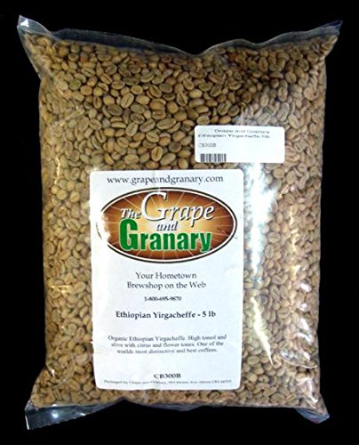 Ethiopian Yirgacheffe unroasted Coffee Beans (5LB)