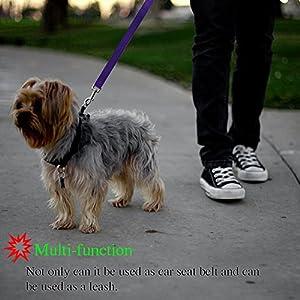 Pet Products 2 Packs Dog Cat Safety Seat Belt Strap Car Headrest Restraint Adjustable Nylon Fabric Dog Restraints Vehicle Seatbelts Harness Choice Materials Dog Collars & Leads