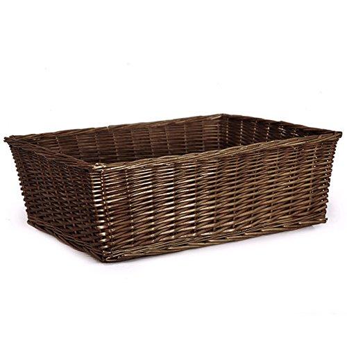 Avery Mahogany Rectangular Display Basket - 22in