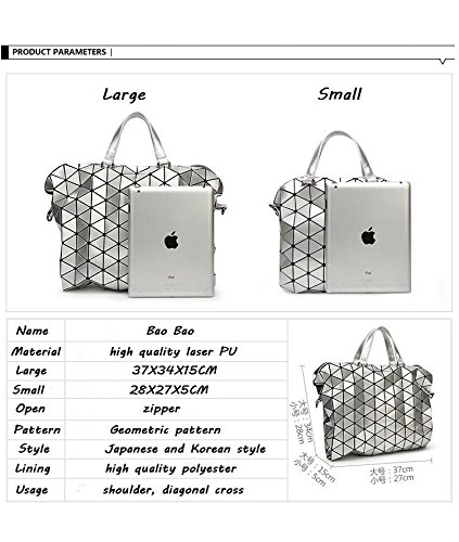 Women Foldable Bag Small Laser Female Large Pearl Blue Quilted Shoulder Sac Bag Geometry Bags Tote Beige Handbags BPgB4wxrq