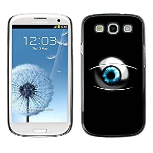 GagaDesign Phone Accessories: Hard Case Cover for Samsung Galaxy S3 - Sci Fi Blue Eye