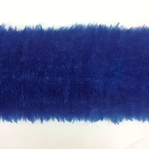 8 Inch FAUX FUR Trim Ribbon in Royal Blue Price Per 2 Yards by Top Trimming