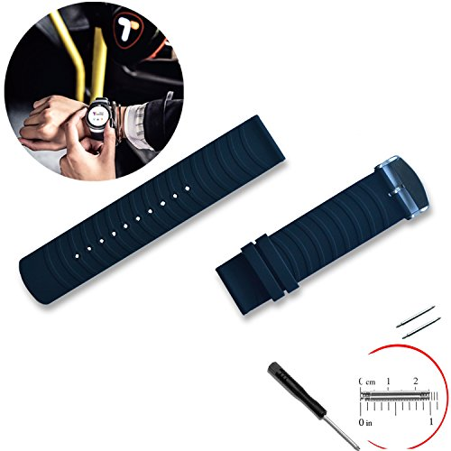 Sport Silicone Smart Watch Band Strap Replacement with 2 Pins Tool Screwdriver for Samsung Gear S2 Classic ()