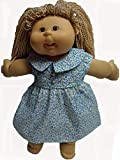 Blue Flowers Dress Fits Cabbage Patch Kid Dolls And 15-16 Inch Baby Dolls