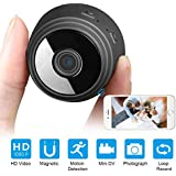 Vetté Mini Spy WiFi Camera - with HD 1080p Video Recording Resolution, Motion Detection, Night Vision - 150-degree Wide View Angle Home Small Spy Security Cameras - User Friendly with iOS/Android/PC