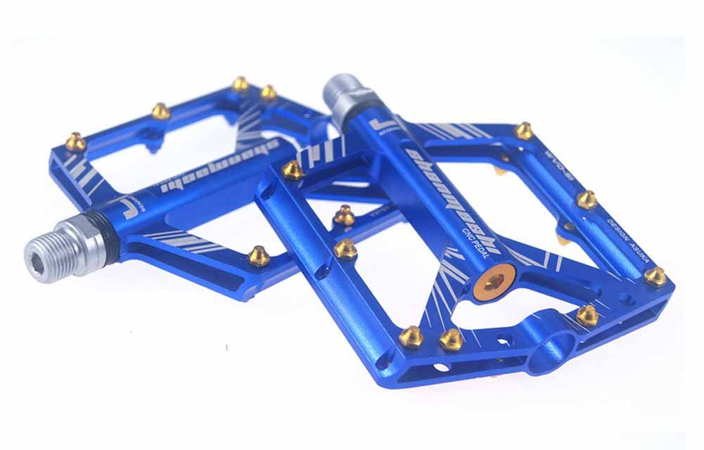 shibike 9 / 16 Bike Pedals s1 Mountain Bike Large 8ベアリングペダルPalinアルミ合金ロードペダル固定ギアバイクアルミペダルfor Bikes B07CF7MRDV ブルー ブルー