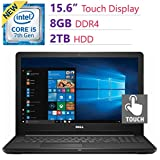 2018 Newest Dell Premium Inspiron 15.6'' Touchscreen HD Widescreen Laptop PC , Intel i5-7200U, 8GB DDR4, 2TB HDD, Bluetooth, HDMI, MaxxAudio, DVD +/- RW, Intel HD Graphics 620, Windows 10 - Black