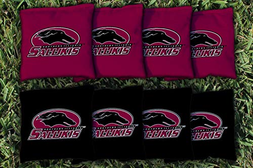 Victory Tailgate NCAA Collegiate Regulation Cornhole Game Bag Set (8 Bags Included, Corn-Filled) - Southern Illinois - Carbondale Salukis ()