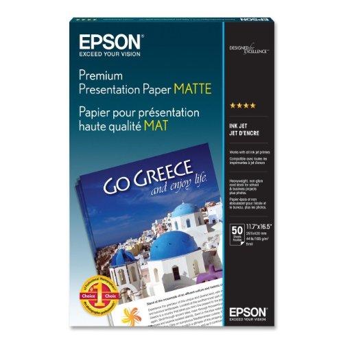 Epson Heavyweight Inkjet Paper (Epson MATTE PAPER,HEAVYWEIGHT,A3 SIZE,)