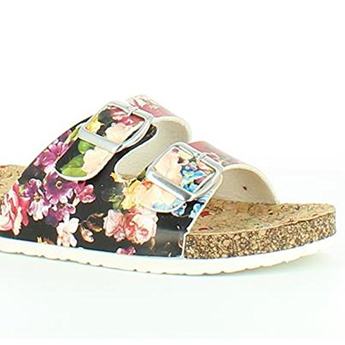 floral Feet Heavenly noir Feet Sandales motif Heavenly Lilley Sandals pour Black femme Fwv67qwxa