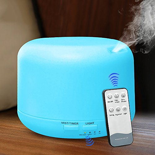Generial 300ml Humidifier, No Water Power Off, Ultrasonic Mute, Remote Control/Colorful Humidifier, Suitable for Bedroom, Office, SPA, Yoga, Baby Room by Generial (Image #5)