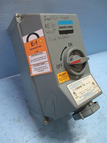 Crouse-Hinds CSR34A-FS Interlocked Arktite Receptacle 30 Amp 600V 3 Wire 4 Pole ()