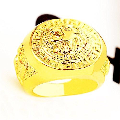 Anello LEONE HOUSE LANNISTER - DORATO - Game of Thrones - Il Trono di Spade - Varie Taglie - High Quality Ring - 7