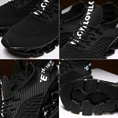 Chopben Men Running Shoes Blade Non Slip Fashion Sneakers Breathable Mesh Soft Sole Casual Athletic