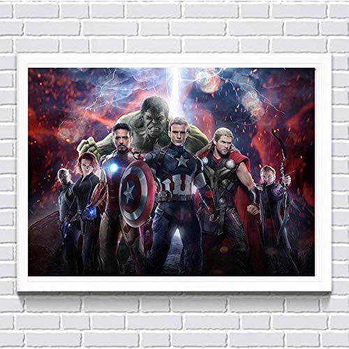 5D Diamond Painting Avengers Infinity War Marvel SuperHero Full Drill Embroidery