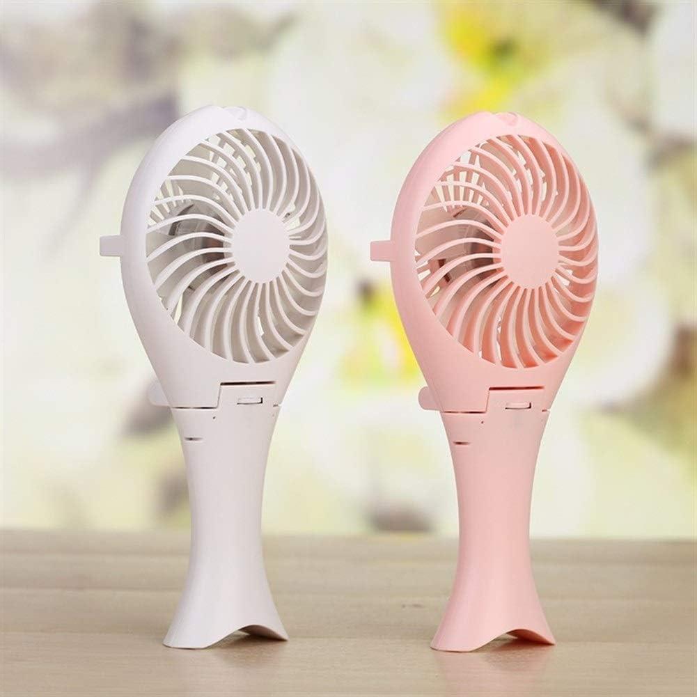 Air Cooler Rechargeable Lithium Battery Fan USB Laptop Desk Fan Stepless Speed Big Wind Ultra Quiet Mini ABS Fan Color : Pink