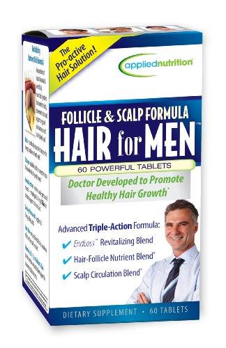 Follicule Nutrition appliquée et des cheveux du cuir chevelu Formule pour les hommes, 60 Count