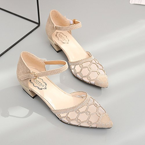 Beige respirables vacíos Los zapatos cavaron las de yalanshop altos zapatos 10 mujeres v6FBgxq14w