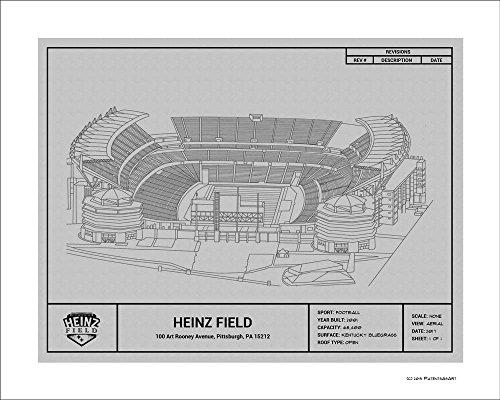 Pittsburgh Steelers Heinz Field Blueprint Art Gift